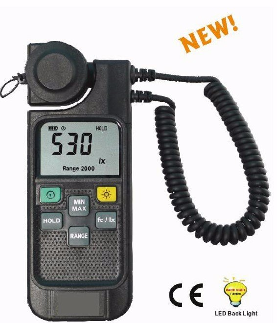 Cen0063 usa 750 class aa handheld light meter with flexible cen0063 usa 750 class aa handheld light meter with flexible rotatable sensor ccuart Choice Image